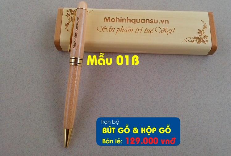 Bút gỗ và hộp bút gỗ được khắc theo yêu cầu miễn phí tại Hà Nội
