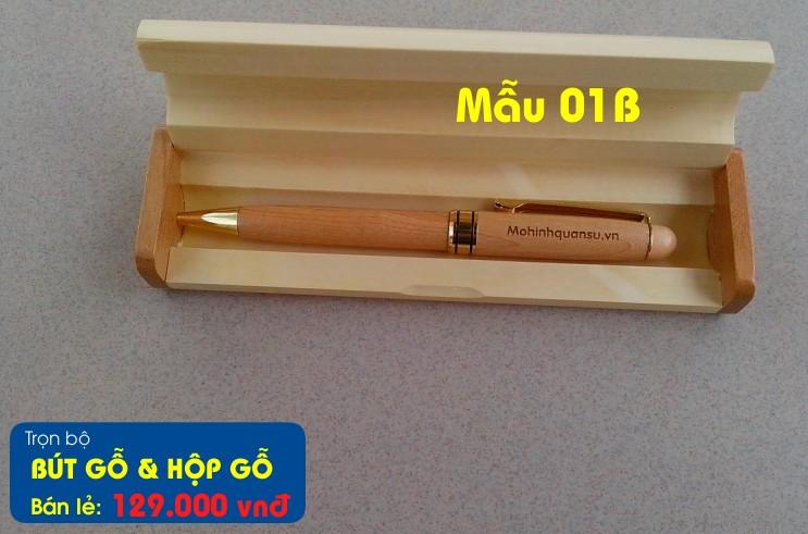 Bút gỗ và hộp bút gỗ khắc tên, khắc chữ theo yêu cầu khách hàng tại Hà Nội