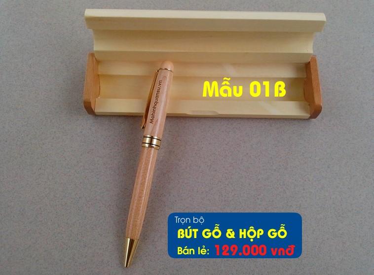 Bút gỗ và hộp bút gỗ khắc chữ, khắc tên theo yêu cầu