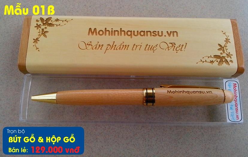 Cây viết gỗ tặng thêm hộp bút viết có khắc tên khắc chữ laser lên thân hoàn toàn miễn phí