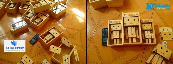 Sản xuất robot danbo bằng gỗ thông tại Tân Bình TpHCM