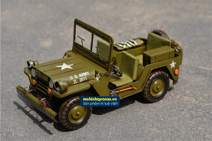 Mô hình xe quân sự Jeep mô phỏng từ nguyên bản sản xuất tại Mỹ