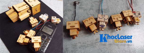 Sản xuất móc khóa robot danbo tại Hà Nội
